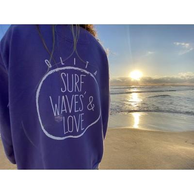 "Sudadera ""Surf, Waves & Love"""